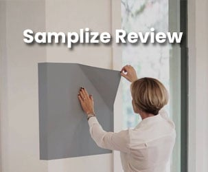 Samplize Review - Peel & Stick Paint Samples Made with Real Paint