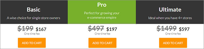Shoptimized themes pricing